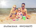 family  travel  vacation and... | Shutterstock . vector #444146695