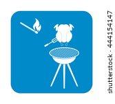 grilled chicken icon. vector... | Shutterstock .eps vector #444154147