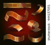 camera film roll gold color set ...