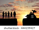 inequality and social class.... | Shutterstock . vector #444159427