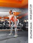 female athlete intensive...   Shutterstock . vector #444160729