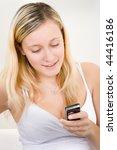 half body portrait of blond... | Shutterstock . vector #44416186