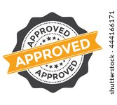 vector approved stamp or seal... | Shutterstock .eps vector #444166171