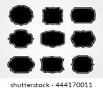 vintage label.decorative frame... | Shutterstock .eps vector #444170011