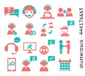support  service icon set | Shutterstock .eps vector #444176665