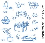 set of different icons for... | Shutterstock .eps vector #444177094