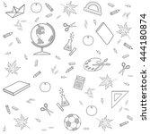 abstract vector illustration.... | Shutterstock .eps vector #444180874