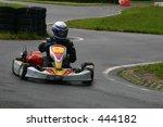 go kart racer going around a... | Shutterstock . vector #444182