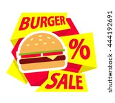 Burger Sale Label Sticker...