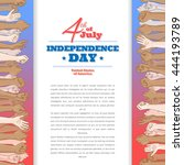 happy independence day greeting ... | Shutterstock .eps vector #444193789