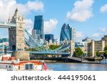 sunny day at the tower bridge... | Shutterstock . vector #444195061