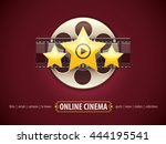 online cinema icon logo  movie... | Shutterstock .eps vector #444195541