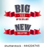 big sale. new collection banner | Shutterstock .eps vector #444204745