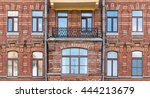 several windows in a row and... | Shutterstock . vector #444213679