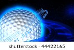blue background with golf ball | Shutterstock . vector #44422165