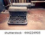 Vintage Typewriter Placed On...