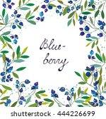 blueberry background for the... | Shutterstock .eps vector #444226699