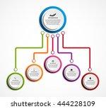 infographic design organization ... | Shutterstock .eps vector #444228109