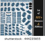 vector set of 100  banners and... | Shutterstock .eps vector #444235855