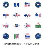 vector symbol of brexit  icon... | Shutterstock .eps vector #444242545