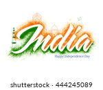 creative white text india with... | Shutterstock .eps vector #444245089