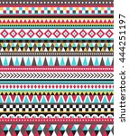 tribal seamless colorful... | Shutterstock .eps vector #444251197