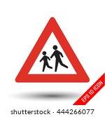 pedestrians traffic sign.... | Shutterstock .eps vector #444266077