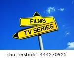 films or tv series   traffic...   Shutterstock . vector #444270925