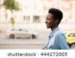beautiful young and cool black... | Shutterstock . vector #444272005