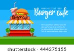 fast food burger cafe  shop... | Shutterstock .eps vector #444275155