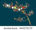 tree shape vector design by... | Shutterstock .eps vector #444275179