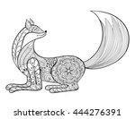 vector hand drawn zentangle... | Shutterstock .eps vector #444276391