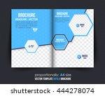 bi fold brochure design.... | Shutterstock .eps vector #444278074