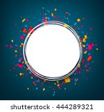 round festive blue background... | Shutterstock .eps vector #444289321