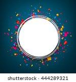 round festive blue background... | Shutterstock .eps vector #444289321