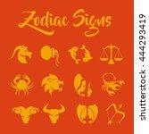 zodiac signs vector art | Shutterstock .eps vector #444293419