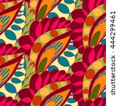bright seamless pattern in boho ... | Shutterstock .eps vector #444299461