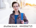 young stylish business woman... | Shutterstock . vector #444306715