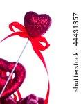 red valentine heart on white... | Shutterstock . vector #44431357