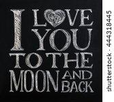 modern calligraphy on a... | Shutterstock . vector #444318445