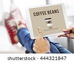 cafe coffee culture cappuccino... | Shutterstock . vector #444321847