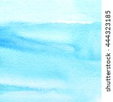 water color blue hand drawn... | Shutterstock . vector #444323185
