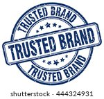 trusted brand. stamp | Shutterstock .eps vector #444324931