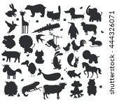 set of animals silhouettes | Shutterstock .eps vector #444326071