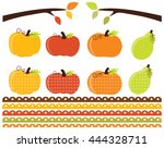 fall   autumn pumpkins | Shutterstock .eps vector #444328711