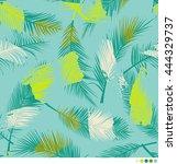 color brushed palm leaf pattern ...   Shutterstock .eps vector #444329737
