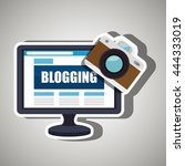 blogging concept  design ... | Shutterstock .eps vector #444333019