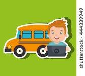 children using laptop at school ...   Shutterstock .eps vector #444339949
