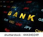 money concept  pixelated yellow ... | Shutterstock . vector #444340249