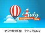 happy independence day. vector... | Shutterstock .eps vector #444340339